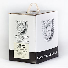 Bag in Box rosso Salento con rubinetto Castel di Salve da 5 LT.